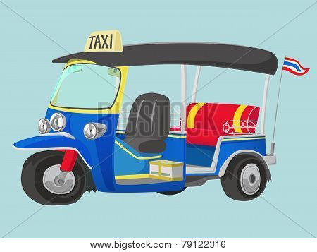 Tuk-tuk Thailand Taxi
