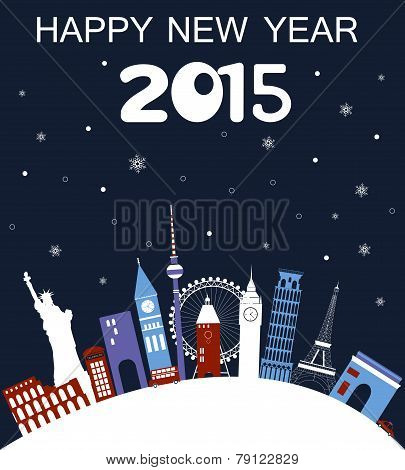 Happy New Year Travel Card.