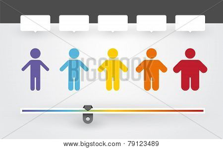 Colorful Characters With Different Weight And Bmi Indicator