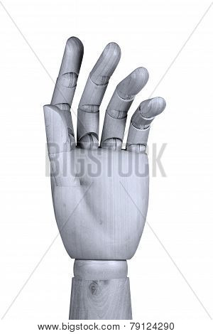 Wooden Hand With Bent Fingers
