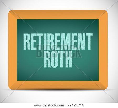 Retirement Roth Board Sign Illustration