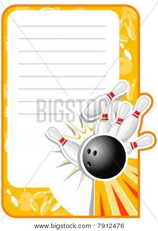 Blank Bowling Invitation