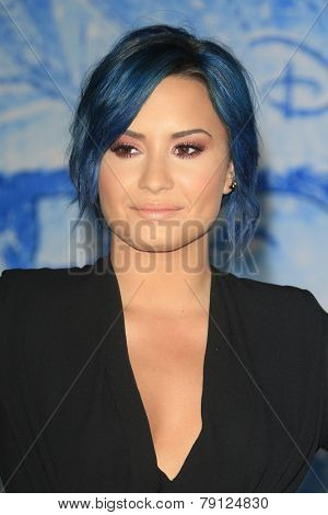 LOS ANGELES - NOV 19: Demi Lovato at the premiere of Walt Disney Animation Studios' 'Frozen' at the El Capitan Theater on November 19, 2013 in Los Angeles, CA