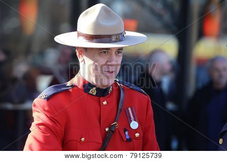 RCMP officer in red serge uniform