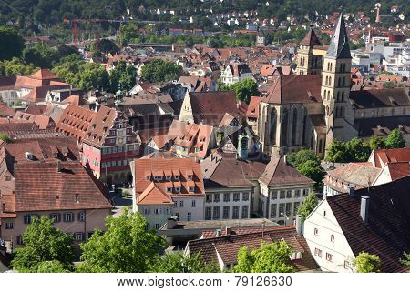 Esslingen Am Neckar Views From Castle Burg Near Stuttgart, Baden Wurttemberg, Germany