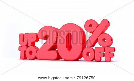 Up to 20% Off 3D Render Red Word Isolated in White Background