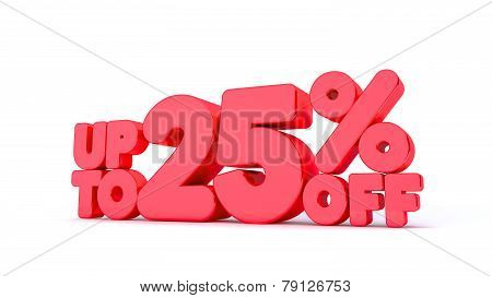 Up to 25% Off 3D Render Red Word Isolated in White Background