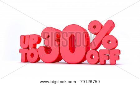 Up to 30% Off 3D Render Red Word Isolated in White Background