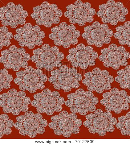 Orange Lace Background