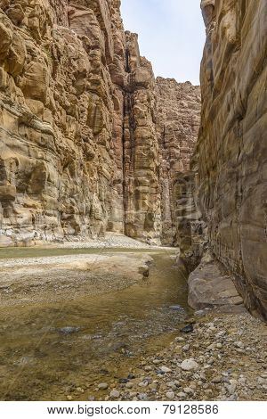 Grand Canyon Of Jordan,wadi Al Mujib Natural Reserve