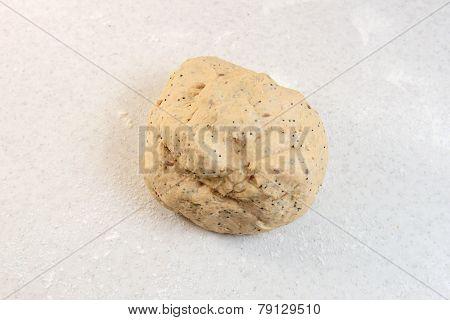Smooth Ball Of Freshly-kneaded Bread Dough