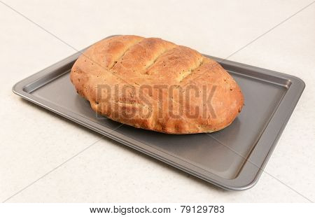 Freshly Baked Bread With Slashed Crust