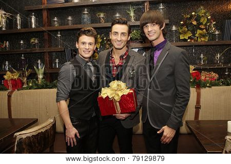 LOS ANGELES - DEC11: Blake McIver, Scott Nevins, Emerson Collins at Scott Nevins Presents SPARKLE: An All-Star Holiday Concert to benefit The Actors Fund on December 11, 2014 in Los Angeles, CA