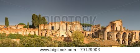 Ruins Of The Palatine In The Evening Light