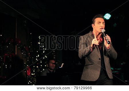 LOS ANGELES - DEC11: Scott Nevins at Scott Nevins Presents SPARKLE: An All-Star Holiday Concert to benefit The Actors Fund at Rockwell Table & Stage on December 11, 2014 in Los Angeles, California