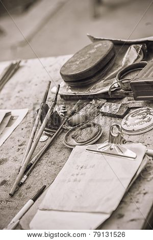the tools of the calligrapher