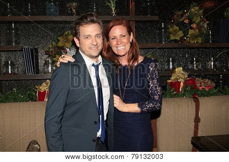 LOS ANGELES - DEC11: Tom Lenk, Elisa Donovan at Scott Nevins Presents SPARKLE: An All-Star Holiday Concert to benefit The Actors Fund at Rockwell Table & Stage on December 11, 2014 in Los Angeles, CA