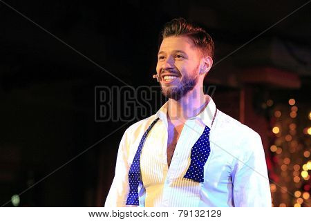 LOS ANGELES - DEC11: Constantine Rousouli at Scott Nevins Presents SPARKLE: An All-Star Holiday Concert to benefit The Actors Fund at Rockwell Table & Stage on December 11, 2014 in Los Angeles, CA