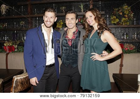 LOS ANGELES - DEC11: Constantine Rousouli, Scott Nevins, Ginifer King at Scott Nevins Presents SPARKLE: An All-Star Holiday Concert to benefit The Actors Fund on December 11, 2014 in Los Angeles, CA