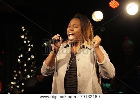 LOS ANGELES - DEC11: Alex Newell at Scott Nevins Presents SPARKLE: An All-Star Holiday Concert to benefit The Actors Fund at Rockwell Table & Stage on December 11, 2014 in Los Angeles, California