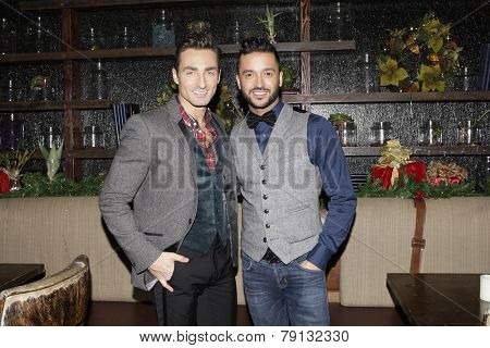LOS ANGELES - DEC11: Scott Nevins, Jai Rodriguez at SPARKLE: An All-Star Holiday Concert to benefit The Actors Fund at Rockwell Table & Stage on December 11, 2014 in Los Angeles, California
