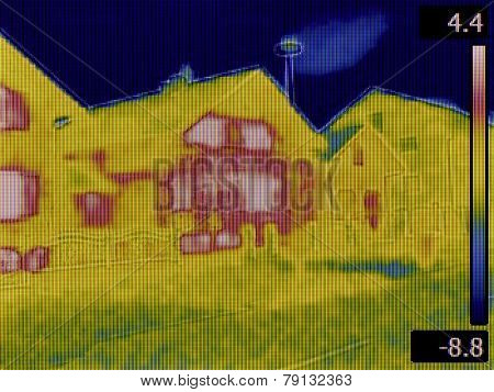 Thermal Image of a Heat Loss