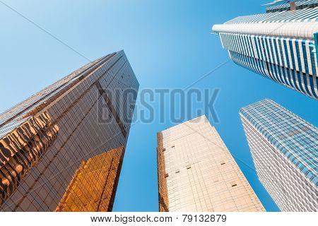 Modern Buildings ,viewed From Below