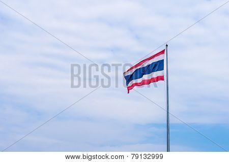 Thailand Flag In Pole