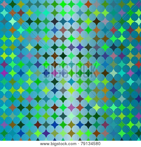 Blue Colorful Mosaic Background, Vector Image For Design Clothing, Phone Skins, Drinkware And Other