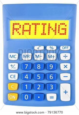 Calculator With Rating On Display