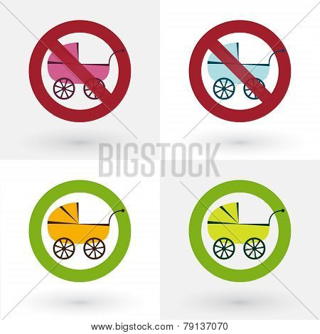 Icons Ban Strollers And Stroller Enabled