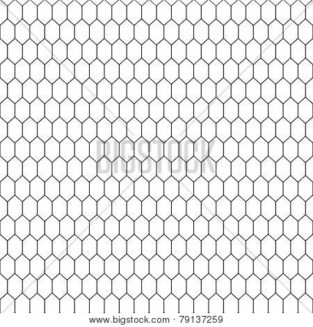 Snake Skin Texture. Seamless Pattern Black And White Background. Vector
