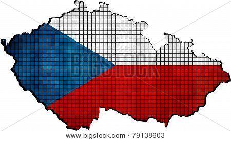 Czech Republic Map Grunge Mosaic