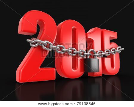 2015 and lock (clipping path included)