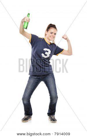 A female sport fan