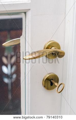 Brass Doors Handle With Key
