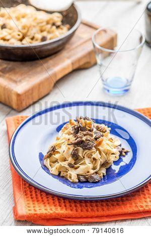 Italian tagliatelle pasta