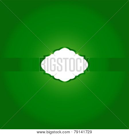 Vector Background-Green Ribbons with Copy Space