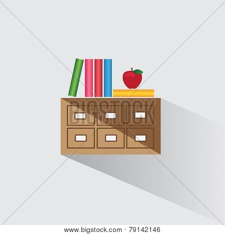 Vector Illustration Library Catalog Of Books