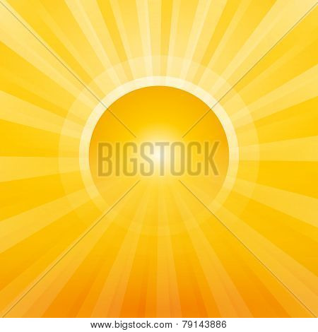 Sun With Rays As A Gateway