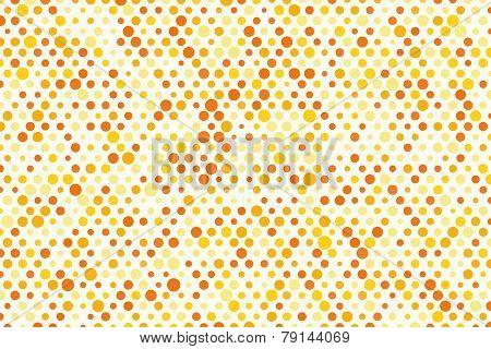 Background Composition Of Orange Polka Dots