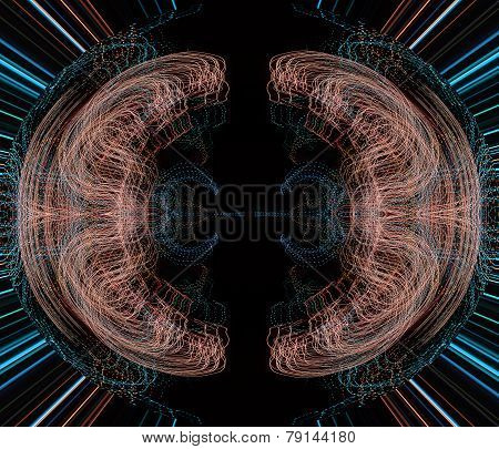 Illustration of a burst of colorful lights
