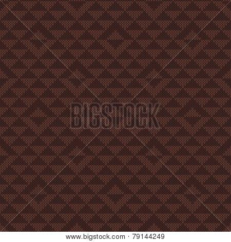 Geometric Knitted Seamless Pattern