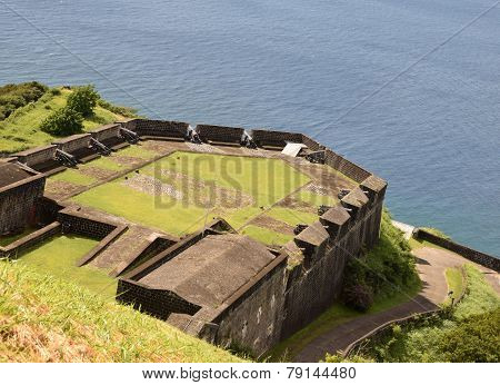 Old Fortess Over The Water In St Kitts
