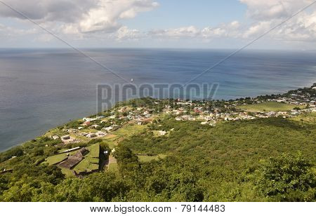 Aerial View Of St Kittsin The Caribbean