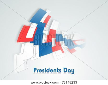 United State American flag color abstract design for Presidents Day celebration.