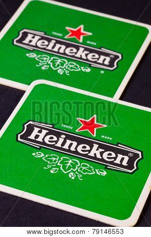 Beermats From Heineken Lager Beer
