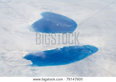 Supraglacial Lakes Over The Ice Sheet, Greenland