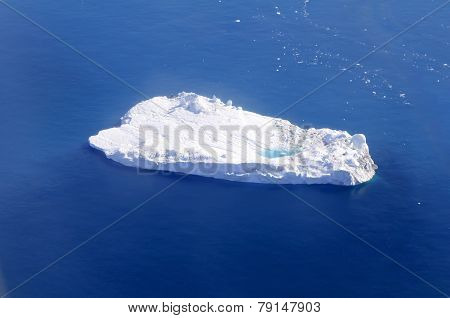 Iceberg With Supraglacial Pond, Greenland