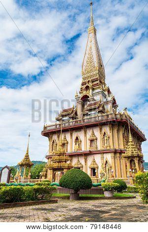 Big Pagoda In Chalong Temple, Phuket, Thailand